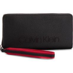 Portfele damskie: Duży Portfel Damski CALVIN KLEIN BLACK LABEL – Pop Touch Large Zipa K60K604309  001