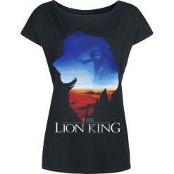 The Lion King Kings World Koszulka damska czarny. Czarne bluzki asymetryczne The Lion King, l, z nadrukiem, z okrągłym kołnierzem. Za 79,90 zł.