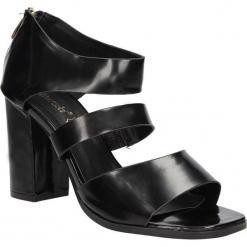 Sandały na słupku S.Barski 80-4. Czarne sandały damskie na słupku marki S.barski. Za 29,99 zł.