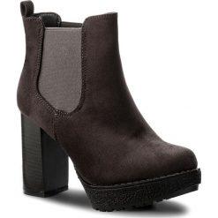 Botki JENNY FAIRY - WS16377 Szary. Szare buty zimowe damskie marki Jenny Fairy, z materiału, na obcasie. W wyprzedaży za 83,99 zł.