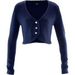 Kardigany damskie: Sweter rozpinany ludowy bonprix ciemnoniebieski