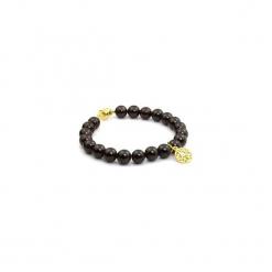 Bransoletka Granat Mandala złoto. Szare bransoletki damskie na nogę marki Pakamera. Za 155,00 zł.
