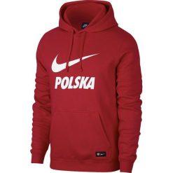 Bejsbolówki męskie: Nike Bluza męska Polska Hoodie Core czerwona r. XXL (891719-608)