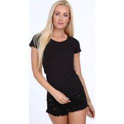 T-shirt dekolt półokrągły czarny 724. Czarne t-shirty damskie Fasardi, l. Za 39,00 zł.
