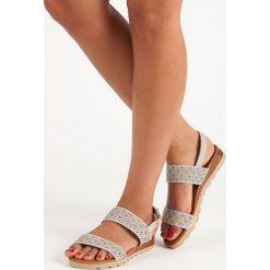 LAURINDA ażurowe płaskie sandały szare. Szare sandały damskie Primavera, w ażurowe wzory, na płaskiej podeszwie. Za 46,90 zł.