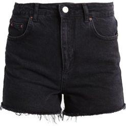 Bermudy damskie: Topshop Szorty jeansowe washed black