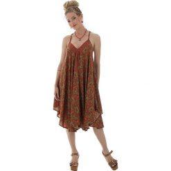 Sukienki: Sukienka w kolorze pomarańczowo-oliwkowym