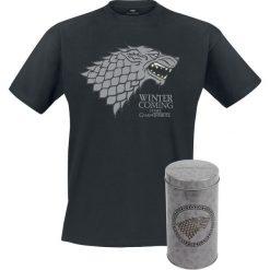 T-shirty męskie z nadrukiem: Gra o Tron House Stark - Deluxe Edition T-Shirt wielokolorowy
