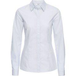 Bluzki damskie: Bluzka bonprix perłowy niebieski - biały w paski