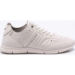 Tommy Hilfiger - Buty. Szare buty sportowe damskie marki TOMMY HILFIGER, m, z nadrukiem, z bawełny, casualowe, z okrągłym kołnierzem. W wyprzedaży za 349,90 zł.