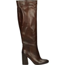 Kozaki - 950-B-91 S DE. Brązowe buty zimowe damskie marki Venezia, ze skóry. Za 399,00 zł.