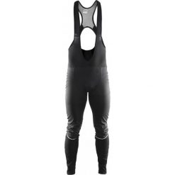 Bermudy męskie: Craft Spodnie rowerowe męskie Storm Bib Tights czarne r. M (1903673-9999)