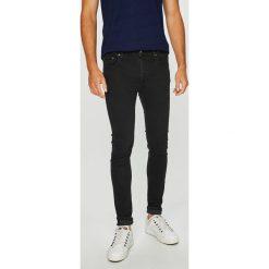 Jack & Jones - Jeansy. Czarne jeansy męskie regular Jack & Jones, z aplikacjami, z bawełny. W wyprzedaży za 149,90 zł.