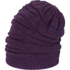 Czapka damska Twarzowa fioletowa. Fioletowe czapki zimowe damskie Art of Polo. Za 40,85 zł.