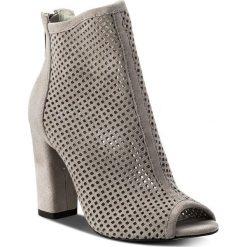Botki R.POLAŃSKI - 0920 Szary Zamsz. Czarne buty zimowe damskie marki R.Polański, ze skóry, na obcasie. W wyprzedaży za 249,00 zł.