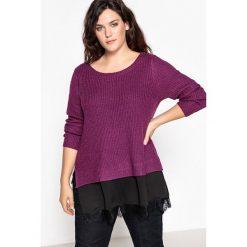 Kardigany damskie: Sweter, okrągły dekolt, gruba dzianina
