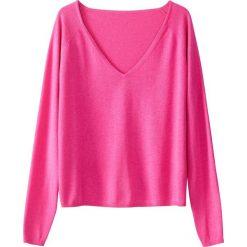 Swetry damskie: Sweter z dekoltem w serek z cienkiej dzianiny