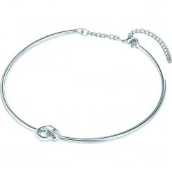 Posrebrzany naszyjnik z elementem ozdobnym - dł. 42,5 cm. Szare naszyjniki damskie Stylowa biżuteria, metalowe. W wyprzedaży za 86,95 zł.