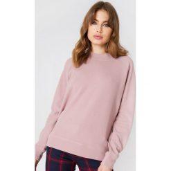 Bluzy damskie: Samsoe & Samsoe Bluza z okrągłym dekoltem Apo – Pink,Purple