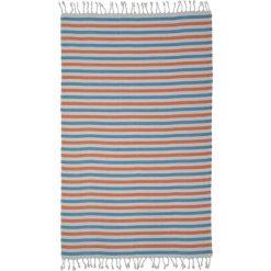 Kąpielówki męskie: Ręcznik w kolorze biało-niebiesko-pomarańczowym