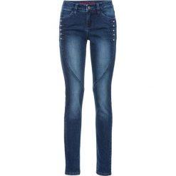 """Dżinsy ze sztrasami bonprix niebieski """"stone"""". Niebieskie jeansy damskie marki House, z jeansu. Za 109,99 zł."""