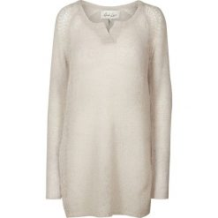 Swetry damskie: Sweter, okrągły dekolt, dzianina o drobnym splocie