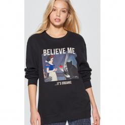 Bluza Disney - Czarny. Fioletowe bluzy damskie marki Reserved, l, z kapturem. Za 89,99 zł.