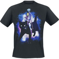 T-shirty męskie z nadrukiem: Masters Of The Universe Skeletor - Black Cat T-Shirt czarny