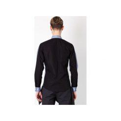 KOSZULA MĘSKA MBEP_K66. Niebieskie koszule męskie marki bonprix, m, z nadrukiem, z klasycznym kołnierzykiem, z długim rękawem. Za 189,00 zł.