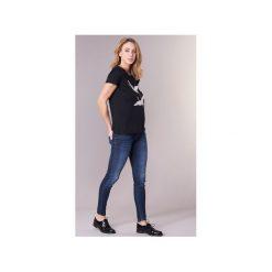 T-shirty z krótkim rękawem Vero Moda  VMJUSTINE. Niebieskie t-shirty damskie marki Vero Moda, z bawełny. Za 87,20 zł.