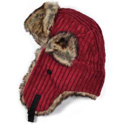 Czapka damska Uszanka Sztruksowa czerwono-brązowa. Brązowe czapki zimowe damskie Art of Polo, ze sztruksu. Za 37,60 zł.