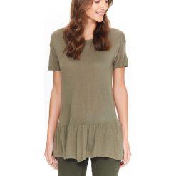 T-shirty damskie: T-SHIRT DAMSKI Z FALBANKĄ