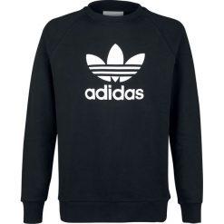 Adidas Trefoil Crew Bluza czarny/biały. Białe bluzy męskie rozpinane Adidas, xxl, z nadrukiem. Za 244,90 zł.