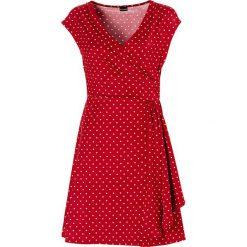 Sukienki hiszpanki: Sukienka w groszki bonprix ciemnoczerwono-ecru