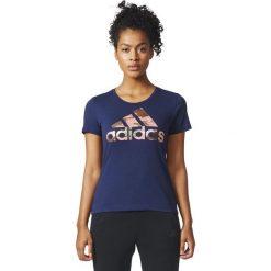 Adidas Koszulka damska BOS FOIL granatowa r. M (CD1954). Szare topy sportowe damskie Adidas, m. Za 69,99 zł.