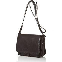 Torebki klasyczne damskie: Skórzana torebka w kolorze czarnym – 18,5 x 22,5 x 10 cm