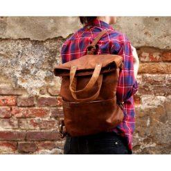 3w1 plecako - torba koniak. Brązowe torebki klasyczne damskie Pakamera. Za 169,00 zł.