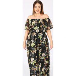 Długie sukienki: Długa rozkloszowana sukienka z kwiatowym wzorem