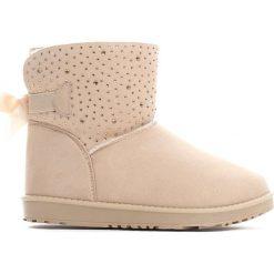 Buty zimowe damskie: Beżowe Śniegowce Coronilla