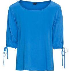 Bluzki damskie: Bluzka z dekoltem w łódkę bonprix lodowy niebieski