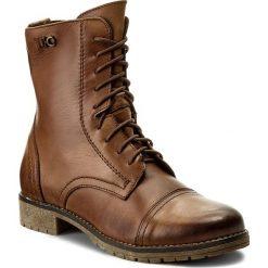 Botki LASOCKI - FIGURA-02 Brązowy. Brązowe buty zimowe damskie Lasocki, ze skóry. Za 249,99 zł.