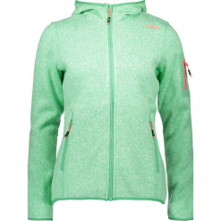 Kurtka polarowa w kolorze zielonym. Zielone kurtki damskie marki CMP Women, z dzianiny. W wyprzedaży za 172,95 zł.