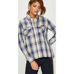 Pepe Jeans - Koszula Memphis. Szare koszule jeansowe damskie marki Pepe Jeans, l, w kratkę, casualowe, z klasycznym kołnierzykiem, z długim rękawem. Za 279,90 zł.