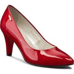Półbuty NEŚCIOR - 078-K Czerwony Lakier. Czerwone creepersy damskie Neścior, z lakierowanej skóry, na obcasie. W wyprzedaży za 199,00 zł.