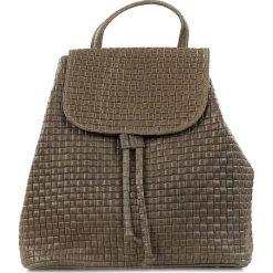 """Plecaki damskie: Skórzany plecak """"Faith"""" w kolorze szarobrązowym – 32 x 33 x 16 cm"""
