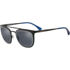 Emporio Armani - Okulary. Brązowe okulary przeciwsłoneczne męskie lustrzane Emporio Armani, z materiału. Za 539,90 zł.