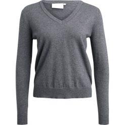 Swetry klasyczne damskie: Kaffe TINA  Sweter dark grey melange