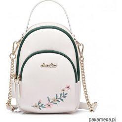 JUST STAR biała torebka z motywem kwiatu. Czarne torebki klasyczne damskie marki KIPSTA, m, z elastanu, z długim rękawem, na fitness i siłownię. Za 194,00 zł.
