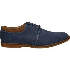 Derby męskie: Półbuty męskie - 398 NA BLUE
