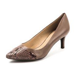 Buty ślubne damskie: Czółenka w kolorze beżowo-pudrowym